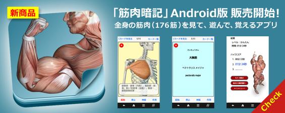 筋肉暗記Android版 販売開始
