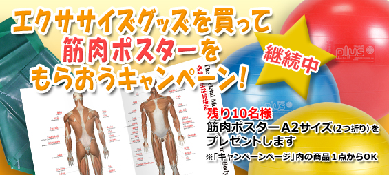 エクササイズグッズを買って筋肉ポスターもらおうキャンペーン